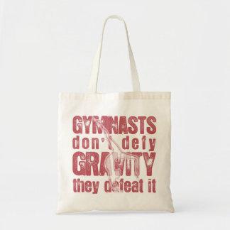"""GYMNASTS DEFEAT GRAVITY"" TOTE BAG"