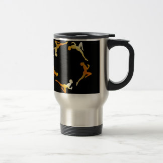 Gymnasts in action stainless steel travel mug