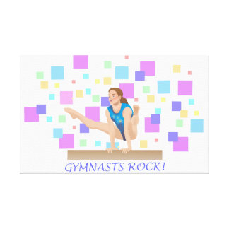 Gymnasts Rock!  Balance Beam Canvas Print