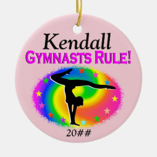 GYMNASTS RULE PERSONALIZED ORNAMENT