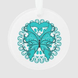 Gynecologic Cancer Butterfly Heart Ribbon