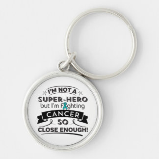 Gynecologic Cancer Not a Super-Hero Silver-Colored Round Keychain