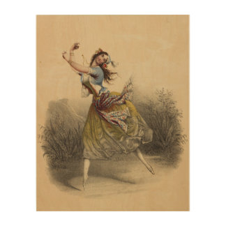 Gypsy Ballerina Wood Wall Art