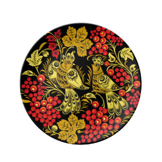 Gypsy Bird and Grape Porcelain Plate