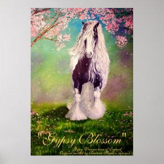 """""""Gypsy Blassom"""" Irish Vanner Stallion pinto horse Poster"""