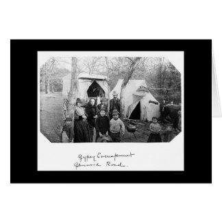Gypsy Camp in Bethesda, MD 1888 Card