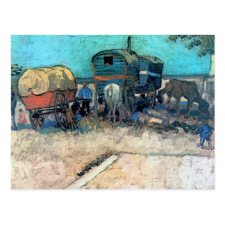 Gypsy camp with horse carriage - Vincent van Gogh Postcard