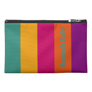 Gypsy Caravan Palette Stripe Personalized Travel Accessory Bag