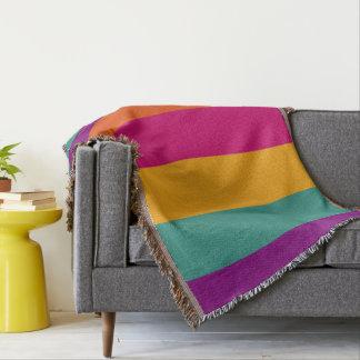 Gypsy Caravan Palette Stripes Personalized Throw Blanket