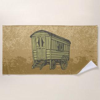 Gypsy caravan wagon beach towel