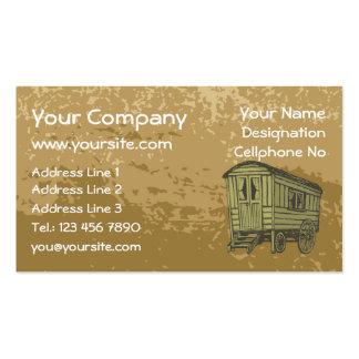 Gypsy caravan wagon business card