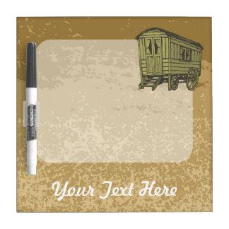 Gypsy caravan wagon dry erase whiteboard