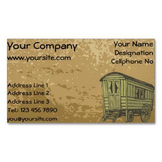 Gypsy caravan wagon magnetic business card