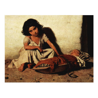 Gypsy Children Postcard