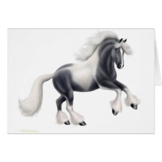 Gypsy Cob Vanner Greeting Card