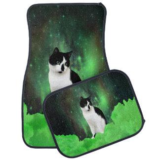 Gypsy Da Fleuky Cat and the Kitty Emerald Night Car Mat