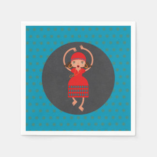 Gypsy Dancing girl Birthday Party Disposable Napkins