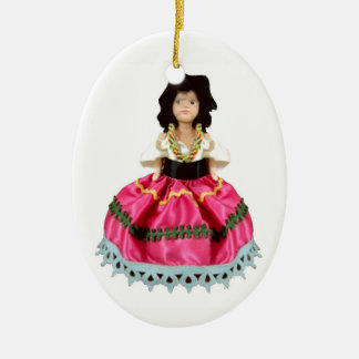 Gypsy Doll Ceramic Ornament