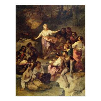 Gypsy Encampment, 1848 Postcard