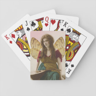 Gypsy Fairy with Mandolin Altered Vintage Photo Poker Deck