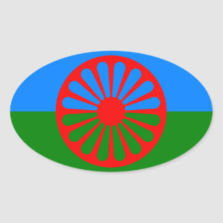 Gypsy flag oval sticker