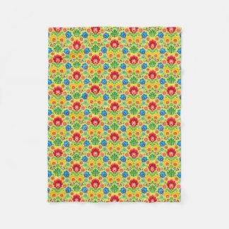 Gypsy Floral Yellow Fleece Blanket