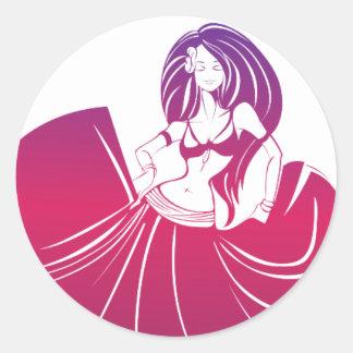Gypsy Flower Power Classic Round Sticker