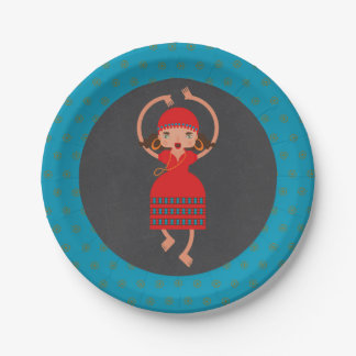 Gypsy Girl Dancing Birthday Party 7 Inch Paper Plate