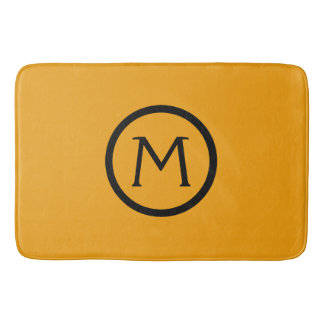 Gypsy Gold and Black Monogram Bath Mat