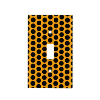 Gypsy Gold and Black Polka Dot Light Switch Cover