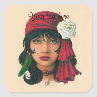 Gypsy II Square Sticker