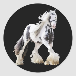 Gypsy Mare Stallion Draft Horse Classic Round Sticker