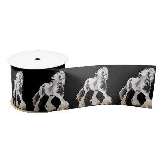 Gypsy Mare Stallion Draught   Horse Satin Ribbon