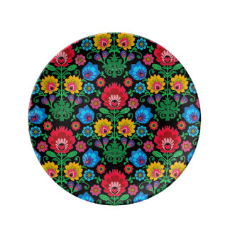Gypsy Midnight Floral Porcelain Plate