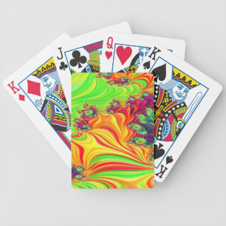 Gypsy Moire Fractal 2 Bicycle Playing Cards