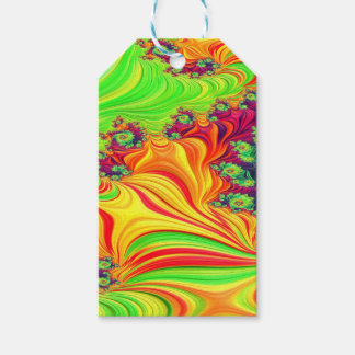 Gypsy Moire Fractal 2 Gift Tags