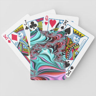 Gypsy Moire Fractal 3 Bicycle Playing Cards