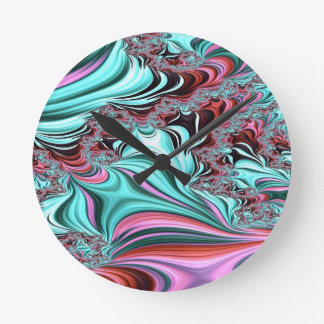 Gypsy Moire Fractal 3 Round Clock