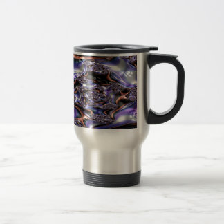 gypsy moire fractal travel mug
