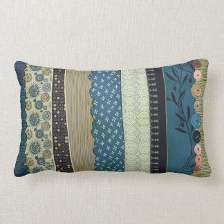 Gypsy MoJo Pillow - Blue and Tan