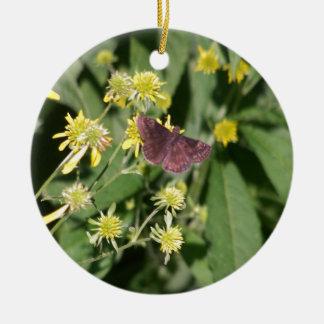 Gypsy Moth Ceramic Ornament
