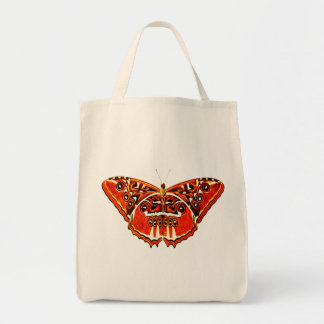 Gypsy moth, rust orange and black tote bag