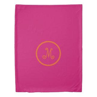 Gypsy Pink and Orange Monogram Reversible Duvet Cover
