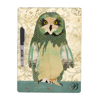 Gypsy Polkadot Owl Dry Erase Board