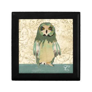 Gypsy Polkadot Owl Monogram Gift Box