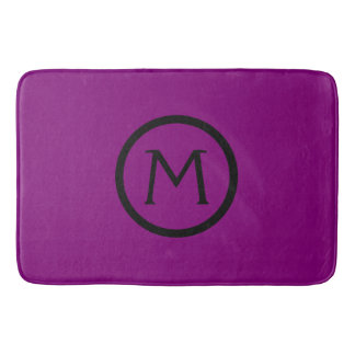 Gypsy Purple and Black Monogram Bath Mat