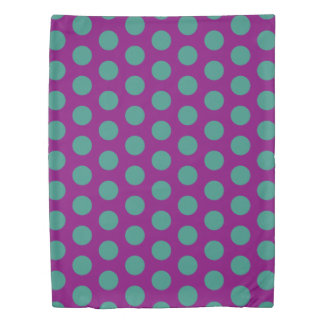 Gypsy Purple and Teal Polka Dot Reversible Duvet Cover