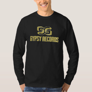 Gypsy Records Riff Long Sleeve-Gold T-Shirt