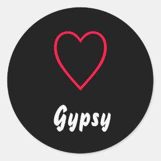 Gypsy Round Sticker