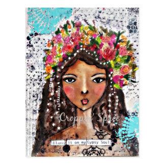 Gypsy Soul by Croppin' Spree Postcard